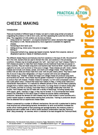 Cheese making_Practical action