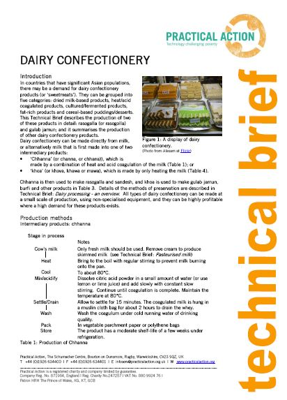 Dairy Confectionary_Practical action
