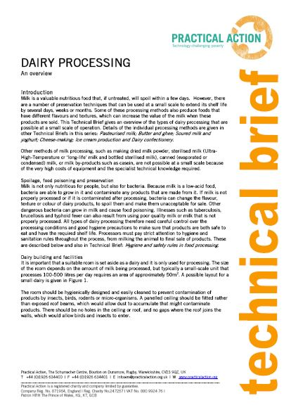 Dairy Processing_Practical action